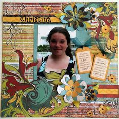 Whistlin' Dixie with Alicia! Good morning Quick Quotes readers!  Alicia with you today still chugging along on my family vacation album. Today I have a layout with the vibrant Whistlin' Dixie collection which are now my favorite papers for teenage layouts.