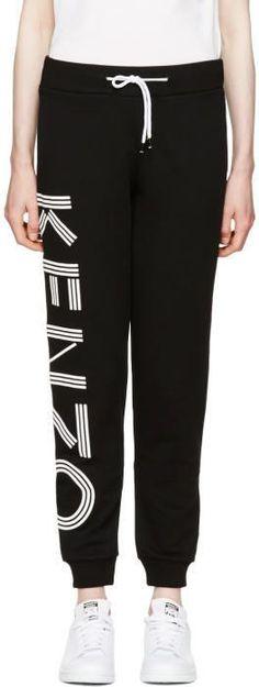 Kenzo Black Logo Track Pants