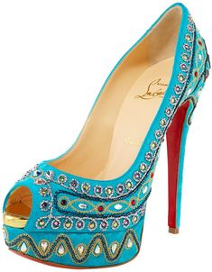 """Courtney Love's Favorite Christian Louboutin """"Bollywoody"""" Pump is Blue"""