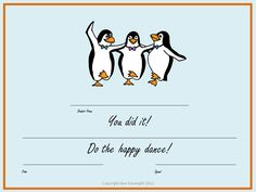 Free Happy Dance Certificate Available in PDF from http://devotedtovocabulary.wordpress.com/2012/08/14/word-detectives/ #freebie