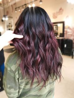 Are you going to balayage hair for the first time and know nothing about this technique? We've gathered everything you need to know about balayage, check! Red Hair Color, Cool Hair Color, Purple Hair, Color Pop, Dark Fall Hair Colors, Fall Red Hair, Burgundy Red Hair, Dark Ombre Hair, Balayage Highlights