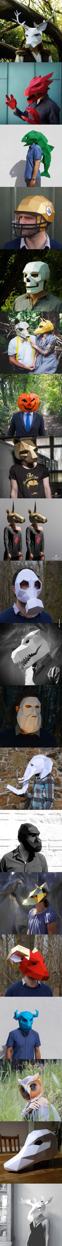 Really Cool Paper Masks