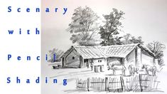 Scenary of Village | Pencil Shading| Real Time