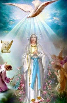 Back Tutorial and Ideas Mary Jesus Mother, Mother Mary Images, Images Of Mary, Blessed Mother Mary, Mary And Jesus, Blessed Virgin Mary, Catholic Pictures, Pictures Of Jesus Christ, Mama Mary
