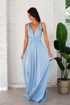 635d14aaf44b Pre-Order Classic Multiway Infinity Dress in Cornflower Blue