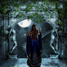 bon pour nuit lune reverie - Page 2 Divas, Enchanted Princess, Fantasy Princess, Gypsy Moon, Medieval Dress, Medieval Fantasy, Moon Goddess, Divine Feminine, Faeries