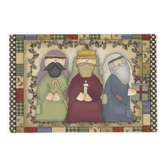 Religious cartoons Christmas laminated place mat