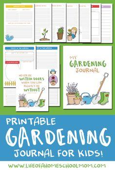 How to Create a Hands-on Homeschool Garden Unit Study {+ FREE Garden Journal} - Life of a Homeschool Mom Planning School, Child Plan, Creative Curriculum, Garden Planner, Garden Journal, How To Plan, Free, Seasons, Homeschooling