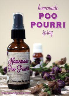 Homemade Poo pourri spray