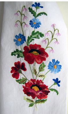 Traditional Hand Embroidered Girl's Blouse by UKREmbroidery
