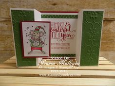 Double Z gate fold card featuring Merry Mice and Wonderful Year created by Joanne Mulligan, Independent Stampin' Up! Demonstrator