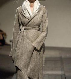 Daniela Gregis neutral wrap sweater and scarf  #minimalist #fashion