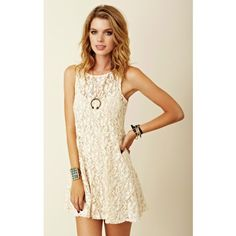 Free people cream lace dress Free people cream lace dress. Size small. Worn a few times. In great condition. Fits TTS. Free People Dresses Mini