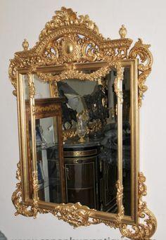 Big French Regence Gilt Pier Mirror Glass Mirrors