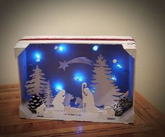 - Happy Christmas - Noel 2020 ideas-Happy New Year-Christmas Christmas Nativity Scene, Nativity Crafts, Christmas Wood, Christmas Projects, All Things Christmas, Christmas Holidays, Christmas Ornaments, Nativity Scenes, Christmas Shadow Boxes