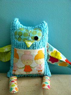 Little Bit Funky-owl stuffy
