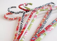 DIY Fabric Wrapped Clothing Hangers