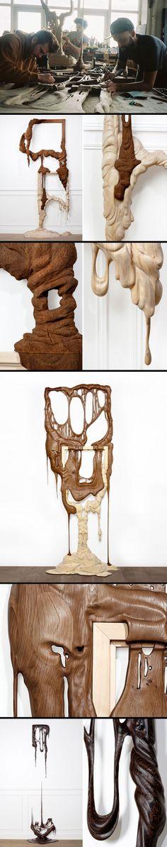 Melting Wood Scupture | Duramen Series | Bonsoir Paris