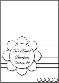 cardmaking design sketch ... The Artful Stampers Challenge 26 ...