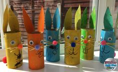 Easter Bunny Loo Roll Craft created by the witches aged 2 and 3. A really easy craft for toddlers to do!