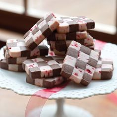 25 Days of Christmas Cookies: Chocolate-Cherry Checkerboard Cookies