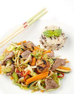 Kanskje verdens beste wok Wok, Japchae, Beef, Ethnic Recipes, Meat, Ox, Ground Beef, Steak