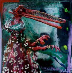 """Acrylic on paper mounted on wood panel / Acrylique sur papier marouflé sur panneau de bois, 10""""x10"""" / 25.4 x 25.4 cm Panel, Acrylic Paintings, Art, Art Background, Kunst, Gcse Art, Art Education Resources, Artworks"""