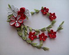 Nuevo Clip de pelo Kanzashi 48 '' 12cm regalos flor por AKazin