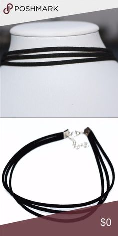 Three strand black choker Cute three strand choker. Perfect for almost any attire. New shipment coming in all sold out of website... as soon as shipment comes in will personally model Jewelry Necklaces