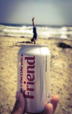Here's a fun photo idea for the beach! Keep it in mind when taking pictures at the beach! #beach #dietcoke