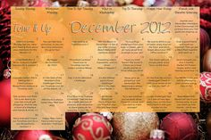 It's your Tone It Up Workout calendar for December! ToneItUp.com