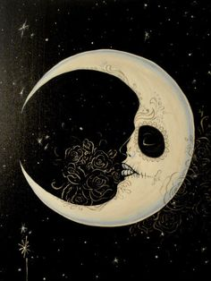Gothic moon~ what an interesting work of art. I usually feel moon stars celestial art gives a romantic energy but this is a different facet~ a little dark ~ like a dark roast when you drink a medium roast every day.