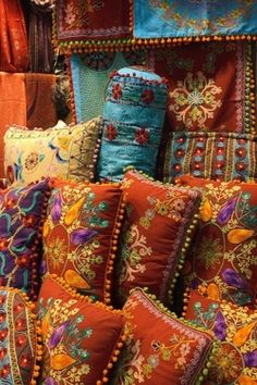 COLORFUL Bohemian Throw Pillows
