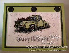 Stamp & Scrap with Frenchie: Masculine card with Countryside