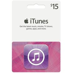 Apple iTunes $15 Gift Card ($15) ❤ liked on Polyvore
