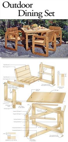 Outdoor Table and Chair Plans - Outdoor Furniture Plans & Projects | WoodArchivist.com                                                                                                                                                                                 More