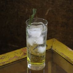 Chartreuse and Tonic 1½ ounces of yellow Chartreuse 4 ounces of tonic water garnish with fresh rosemary sprig