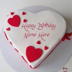 It's the best way to wish birthday to friends and relatives with their name on happy birthday images. Get happy birthday chandan cake images and share with your loved one. Birthday Wishes For Her, Happy Birthday For Him, Birthday Cake With Photo, Beautiful Birthday Cakes, Cool Birthday Cakes, Happy Birthday Greetings, Birthday Cupcakes, Heart Shaped Birthday Cake, Birthday Ideas