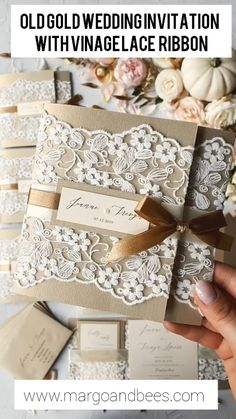 vintage lace wedding invitations / rustic lace 2 / lace / z - Weddings - Dresses, Engagement Rings, and Ideas! Discount Wedding Invitations, Handmade Wedding Invitations, Beautiful Wedding Invitations, Vintage Wedding Invitations, Printable Wedding Invitations, Elegant Wedding Invitations, Wedding Stationery, Invitation Ideas, Wedding Vintage