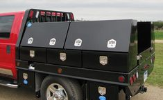 H x D x W - Steel Top Mount Service Drawer Utility Toolbox, HD, Double Top Hinged Doors and Triple Drawers, T-Handle Locks and Black Powder Coated Finish Truck Bed Tool Boxes, Truck Bed Storage, Truck Tools, Custom Truck Beds, Custom Jeep, Custom Trucks, Chevy Trucks Older, Lifted Chevy Trucks, Ford Trucks