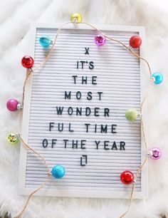 Its the Most Wonderful Time of the Year! - (affiliate link) - Christmas Letterboard - Christmas flat lay #ShopStyle #ssCollective #MyShopStyle #mylook