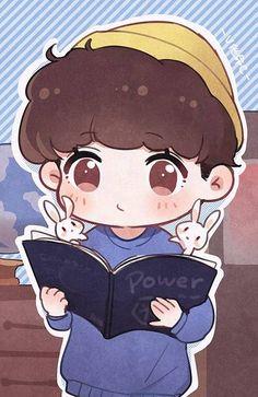 Suho Kpop Exo, Exo Kokobop, Baekhyun, Chanbaek Fanart, Kpop Fanart, Baekyeol, K Pop, Exo Stickers, Exo Anime