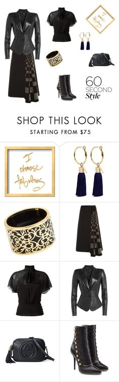 """Asymmetric Authority (contest)"" by scolab ❤ liked on Polyvore featuring Mignonne Gavigan, Miriam Salat, Fendi, RED Valentino, Jitrois, Gucci and Balmain"