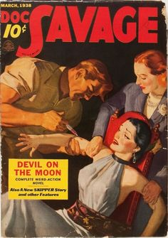 Doc Savage - March 1938 | Devil On The Moon