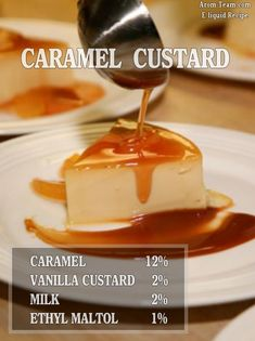 Caramel Custard Eliquid Recipe #vape #diy #ecig #eliquid