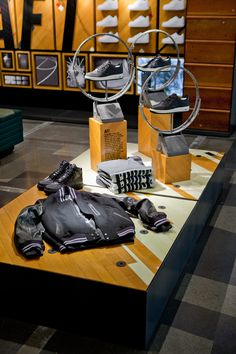 """NIKE RETAIL DESIGN, """"Take care of your body.....it's the only place you have to live in"""", pinned by Ton van der Veer"""