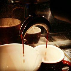 Delicious espresso extraction from a La Marzocco FB70