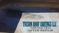 Another completed roof coating job by Tucson Roof Coatings LLC  Always making sure that low ponding areas are repaired & ready for the next storm front to roll in  Roof Coating Tucson One Roof At A Time Tucson Roof Coatings LLC 520-314-7811 www.TucsonRoofCoatingsLLC.com  #Roof #Tucson #Coating #Professional #Repair