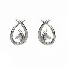 The Curves Stud Earrings  Price : $317 Only Style No                :  E1901 Metal Karat          :  10KT Diamond Weight :  0.20 CTS Diamond Type      : Round – Diamond Diamond Color     :  I-J Diamond Clarity   :  SI1 Diamond Pcs   :  2