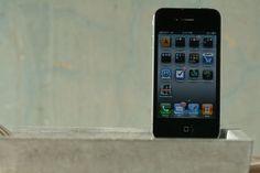 Concrete i tray iphone dock by atstuart on Etsy, $69.00
